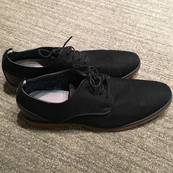 Call It Spring Black Canvas Dress Shoes